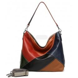 100% Real Cow Leather Designer Women Shoulder Handbag