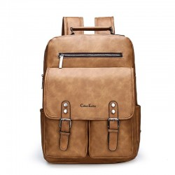 Anti theft Leather Backpack