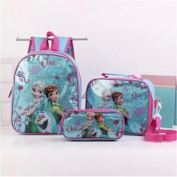 3pcs/set princess children backpack