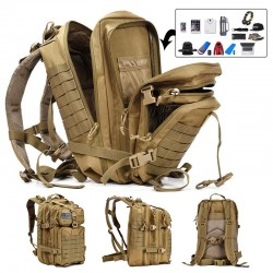 50L Capacity Men Army Military Tactical Large Backpack Waterproof
