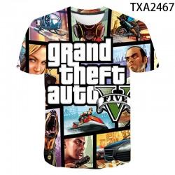 New 3D Print Grand Theft Auto T Shirt