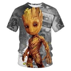 Funny Guardians of Galaxy GROOT Kids 3D T-shirt