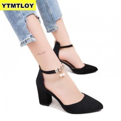 Ankle Strap Women Casual High Heel Shoes
