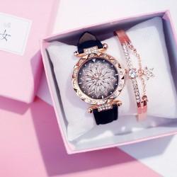 2020 Women Watches Set Starry Sky Ladies Bracelet Watch