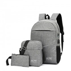 3PCS Backpack USB Charging