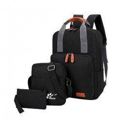 3pcs/set USB Charging Backpack Oxford