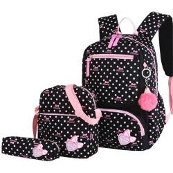 3pcs/set School Backpack Fashion Kid