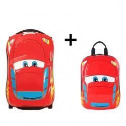 3D Kids Suitcase Car Travel Luggage set 2 pieces