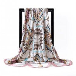90x90cm luxury brand silk square scarf
