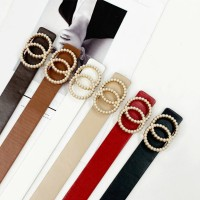 Leather belt women waist luxury