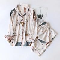 Spring / Summer 100% viscose long-sleeved trousers pajamas