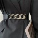 Gold chain belt elastic