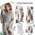 4 Pieces  Soft Autumn Summer Women Pajamas