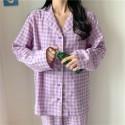 Purple Grid Girls Pajamas