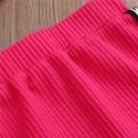 2PCS  Girls Letter Strap Sleeveless Tops+Short Mini Skirts Outfits
