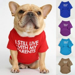 Letters Printed Summer Dog T-shirt
