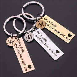 Custom A-Z 26 Initials Letter Keychain