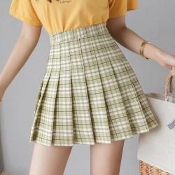 Korean High Waist Plaid Mini Women Skirts