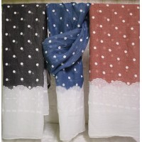 Scarves with dots LA-450