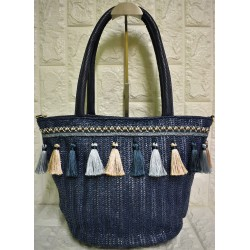 Straw woman tote bag Μ-511