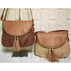 Straw crosside bag Μ-512