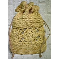 Straw backbag P-508