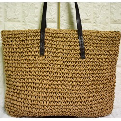 Straw handwoven tote bag P-506