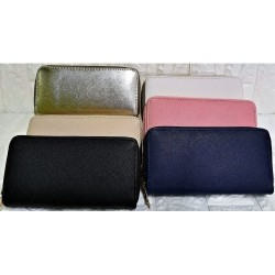 Woman wallet with double zip M-371