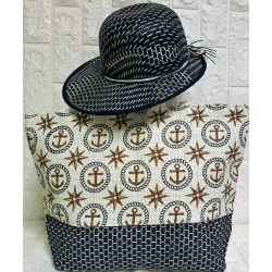 Set beachbag with hat P-380