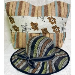 Set beachbag with hat P-381
