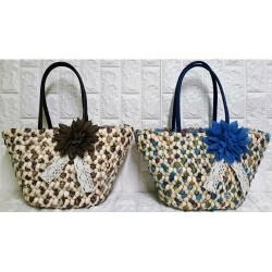 Straw woman tote bag Ρ-424