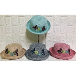 Kids straw hats P-429