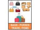 BAGS / PURSES / TRAVEL ITEMS